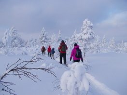 Winter adventure outdoor in Norway